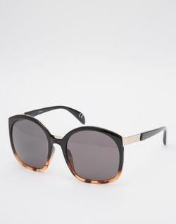 Солнцезащитные Очки В Стиле Ретро Черепаховый И Asos                                                                                                              чёрный цвет