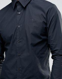Рубашка Слим Черный G-Star                                                                                                              чёрный цвет