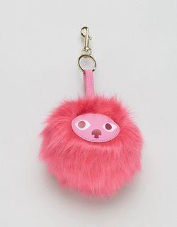 Кольцо Для Ключей С Мордочкой На Помпоне Monki                                                                                                              розовый цвет