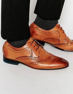Кожаные Броги Vineey Ted Baker                                                                                                              коричневый цвет