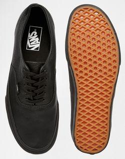 Кожаные Кеды Vans Authentic Decon Vans'                                                                                                              черный цвет
