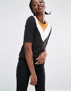 Chevron Varsity Top Black Mustard Monki                                                                                                              None цвет