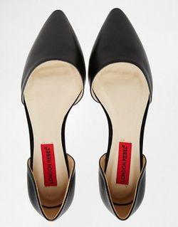 Туфли Из Двух Частей На Плоской Подошве London Rebel                                                                                                              чёрный цвет