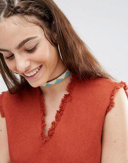Короткое Кожаное Ожерелье Мульти Made                                                                                                              многоцветный цвет