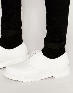 Туфли С 3 Парами Люверсов Dr Martens Dr. Martens                                                                                                              белый цвет