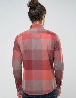 Бордовая Рубашка Узкого Кроя Из Поплина В Hollister                                                                                                              None цвет