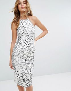 Платье С Крокодиловым Рисунком И Завязкой Talulah Tallulah                                                                                                              белый цвет