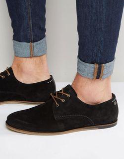Замшевые Туфли На Шнуровке Черный Jack & Jones                                                                                                              черный цвет