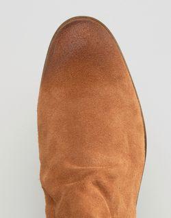 Светло-Коричневые Замшевые Ботинки Челси С Бахромой Asos                                                                                                              Рыжий цвет