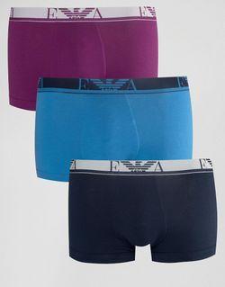 Комплект Из 3 Пар Боксеров-Брифов Мульти Emporio Armani                                                                                                              многоцветный цвет