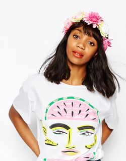 Big Floral Hair Garland Monki                                                                                                              None цвет