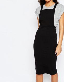 Платье Миди Черный Asos                                                                                                              черный цвет