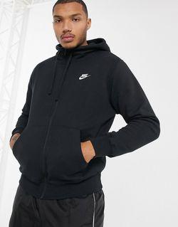 Черное Худи Club 804389-010 Черный Nike                                                                                                              черный цвет