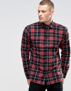 Рубашка В Клетку Красный Only & Sons                                                                                                              красный цвет