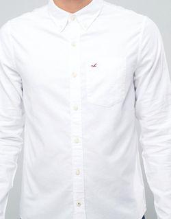 Белая Оксфордская Рубашка Классического Кроя С Логотипом Hollister                                                                                                              None цвет