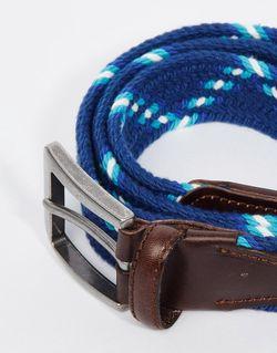 Плетеный Ремень С Кожаной Отделкой Jack Jones Jack & Jones                                                                                                              синий цвет