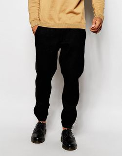 Твидовые Спортивные Штаны Скинни Черный Asos                                                                                                              чёрный цвет