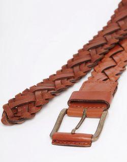 Кожаный Плетеный Ремень Jack Jones Jack & Jones                                                                                                              коричневый цвет