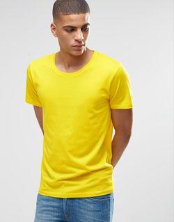 Футболка С Короткими Рукавами И Глубоким Вырезом Selected Homme                                                                                                              желтый цвет