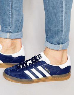 Кроссовки Gazelle Синий Adidas                                                                                                              синий цвет
