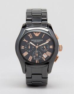 Черные Керамические Часы С Хронографом Ar1410 Черный Emporio Armani                                                                                                              чёрный цвет