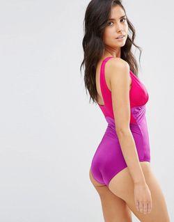 Слитный Моделирующий Купальник Bahamas Фиолетовый Pour Moi                                                                                                              None цвет