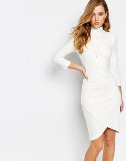 Платье Миди С Высокой Горловиной Dilanta Бежевый SuperTrash                                                                                                              бежевый цвет