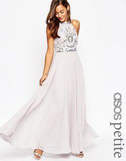 Платье Макси С Вырезами Сиреневый ASOS PETITE                                                                                                              фиолетовый цвет