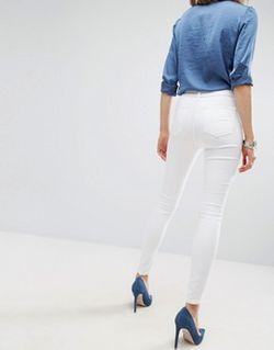 Белые Джинсы Sculpt Me Premium Видимый Белый Asos                                                                                                              белый цвет