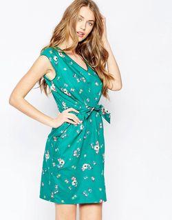 Платье С Декольте Take Green Butterfly Trollied Dolly                                                                                                              зелёный цвет