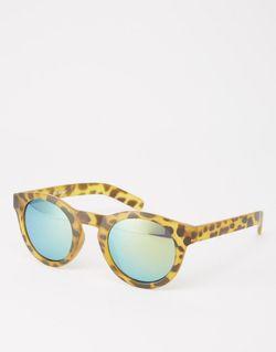 Круглые Солнцезащитные Очки В Матовой Черепаховой Оправе AJ Morgan                                                                                                              Черепаховый цвет