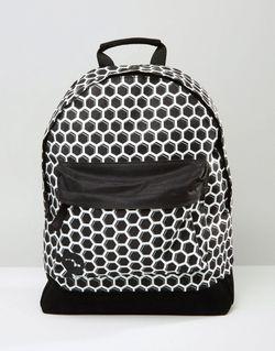 Черный Рюкзак С Принтом Медовые Соты Черный MI-PAC                                                                                                              чёрный цвет