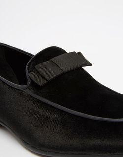 Черные Бархатные Лоферы С Бантиком Asos                                                                                                              черный цвет