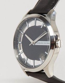 Часы С Черным Кожаным Ремешком Ax2186 ARMANI EXCHANGE                                                                                                              None цвет
