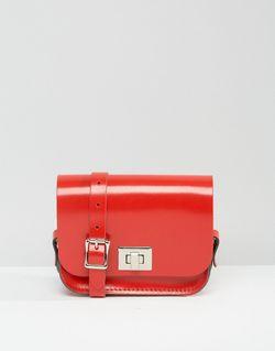 Сумочка Через Плечо The Лакированная Красного Цвета Leather Satchel Company                                                                                                              Лакированная Красног цвет