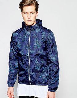 Легкая Куртка С Капюшоном Темно-Синий Threadbare                                                                                                              синий цвет