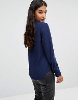 Блузка С Вырезами Bouveau Темно-Синий SuperTrash                                                                                                              None цвет