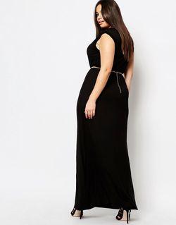 Платье-Футболка Макси Plus Essentials Club L                                                                                                              чёрный цвет