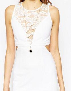 Платье С Вырезами И Кружевными Вставками Look WYLDR                                                                                                              Слоновая Кость цвет