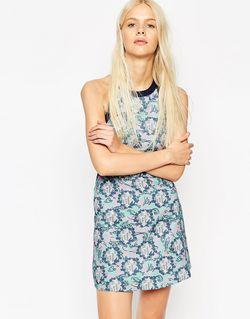 Платье-Халтер С Меланжевым Принтом Textile Federation For ASOS Africa                                                                                                              многоцветный цвет