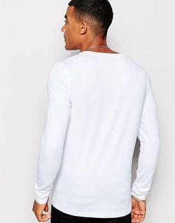 Белый Лонгслив С Круглым Вырезом Asos                                                                                                              белый цвет
