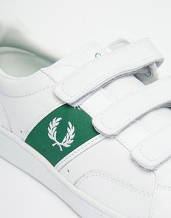 Теннисные Кроссовки На Липучке Fred Perry                                                                                                              белый цвет