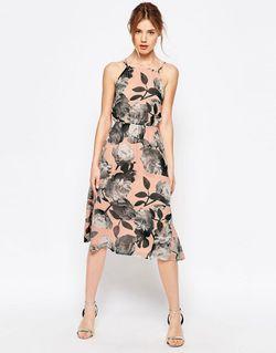 Платье С Завязкой На Шее И Принтом Uttam Boutique                                                                                                              Телесный цвет