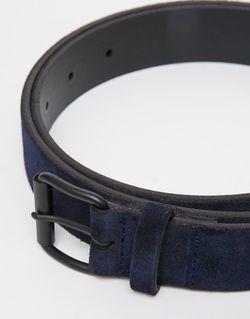 Темно-Синий Замшевый Ремень Asos                                                                                                              синий цвет