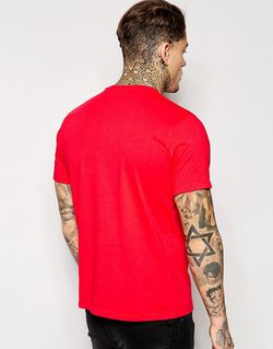 Футболка С Принтом T-Efi Diesel                                                                                                              Красный цвет