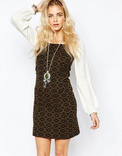 Цельнокройное Платье С Принтом Серый boohoo                                                                                                              серый цвет