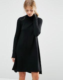 Трикотажное Платьетуника Из Кашемировой Смеси Черный Asos                                                                                                              черный цвет