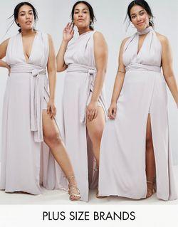 Платье-Трансформер Ainsley Серый Fame and Partners Plus                                                                                                              серый цвет