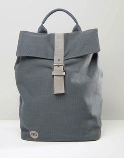 Серый Холщовый Рюкзак Серый MI-PAC                                                                                                              серый цвет