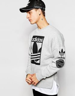Graphics Sweatshirt Ab8027 adidas Originals                                                                                                              серый цвет